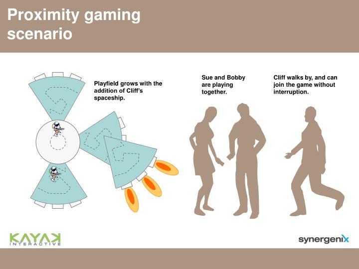Proximity gaming scenario