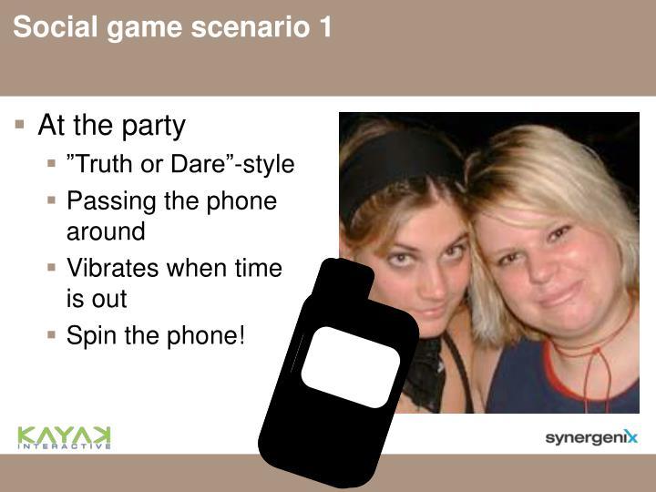 Social game scenario 1