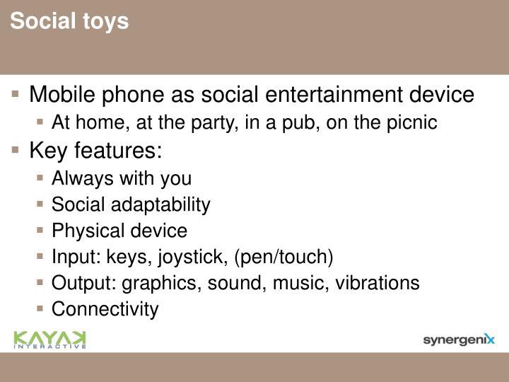 Social toys