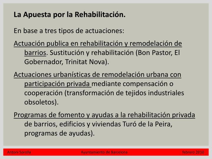 La Apuesta por la Rehabilitación.