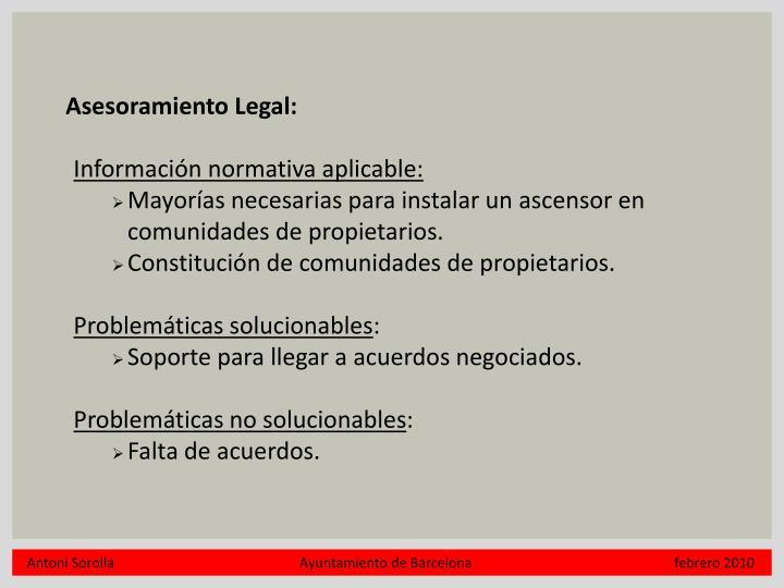 Asesoramiento Legal: