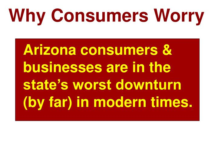 Why Consumers Worry