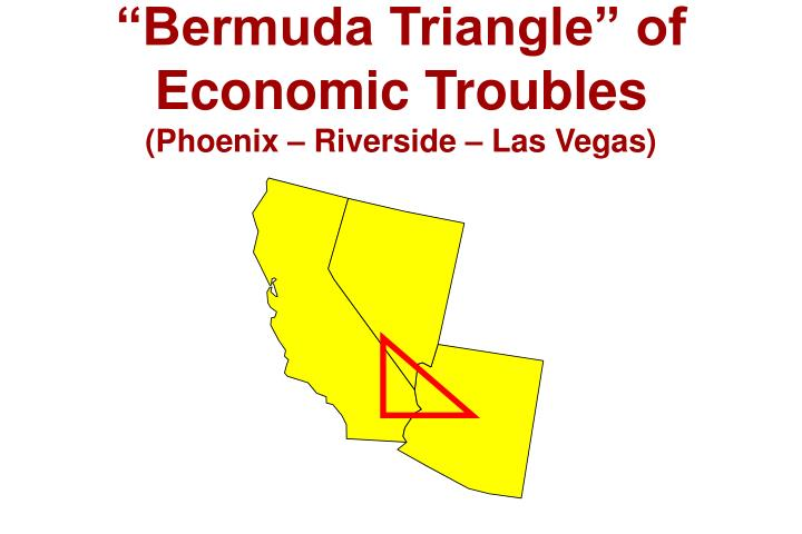 """Bermuda Triangle"" of Economic Troubles"