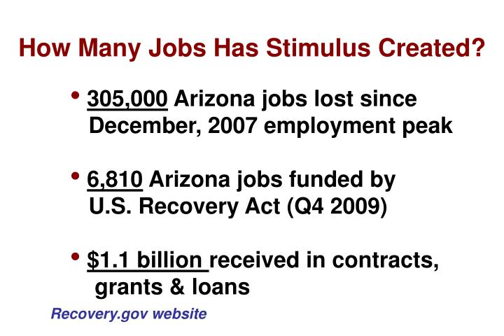 How Many Jobs Has Stimulus Created?