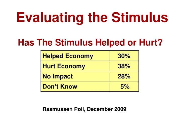 Evaluating the Stimulus