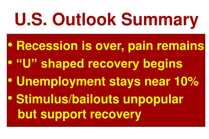 U.S. Outlook Summary