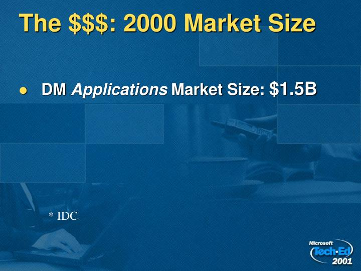 The $$$: 2000 Market Size