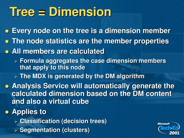 Tree = Dimension
