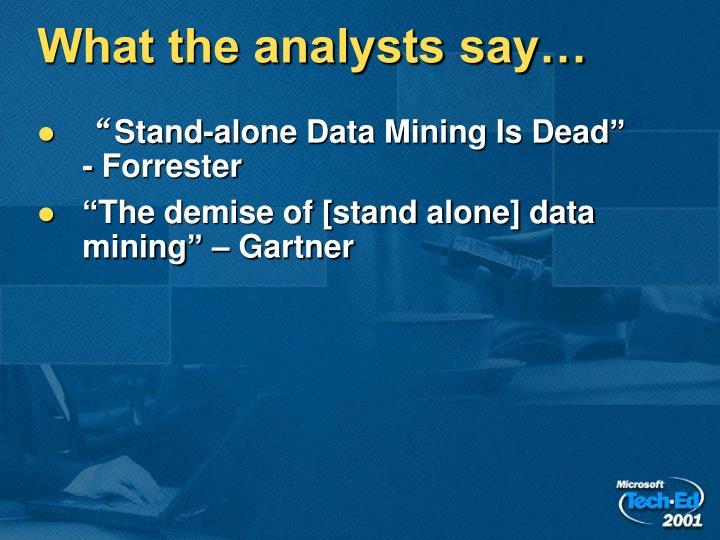 What the analysts say…