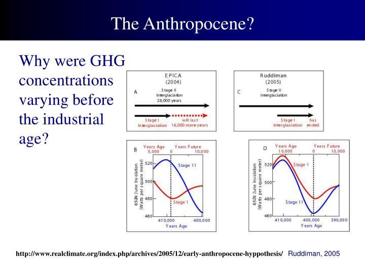 The Anthropocene?