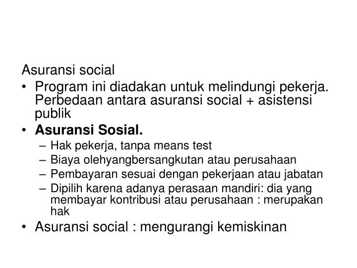 Asuransi social
