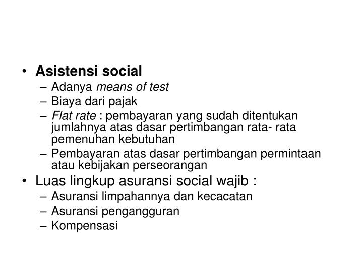 Asistensi social