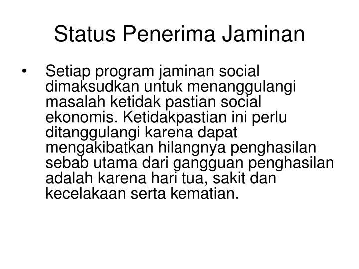 Status Penerima Jaminan