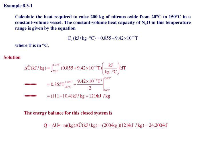 Example 8.3-1