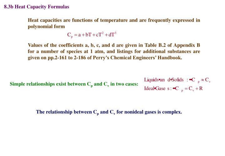 8.3b Heat Capacity Formulas