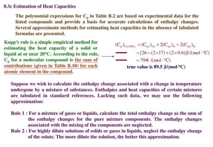 8.3c Estimation of Heat Capacities