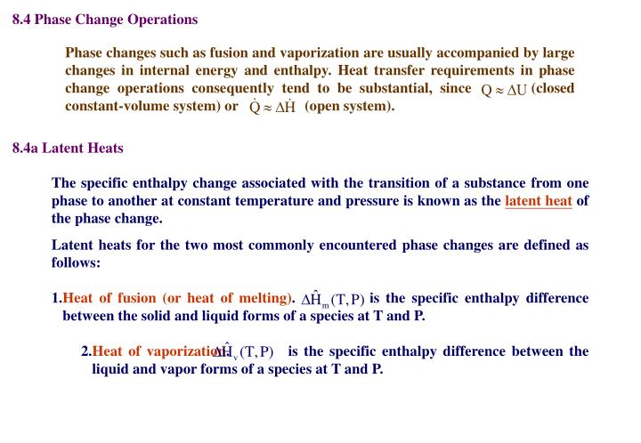 8.4 Phase Change Operations