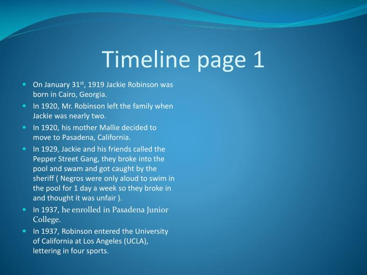 Timeline page 1