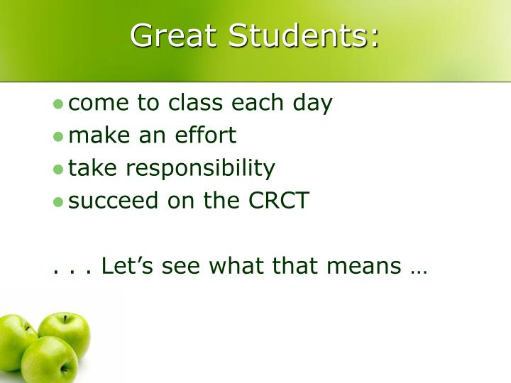 Great Students: