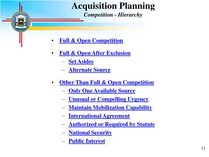 Acquisition Planning