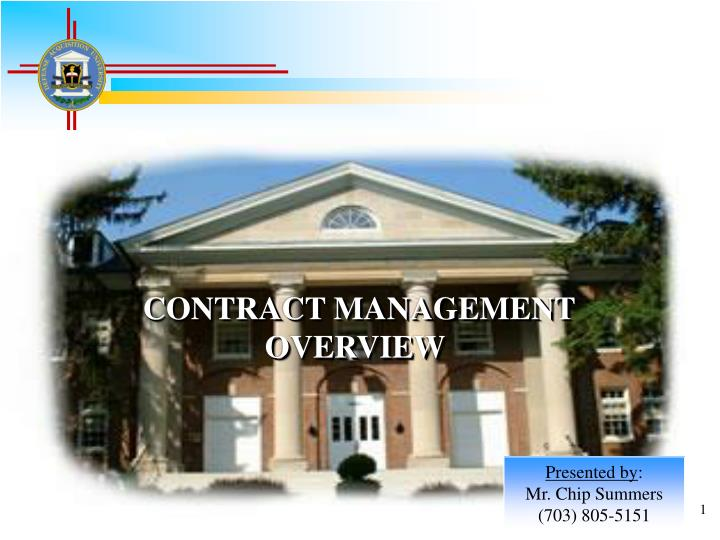Contract management overview