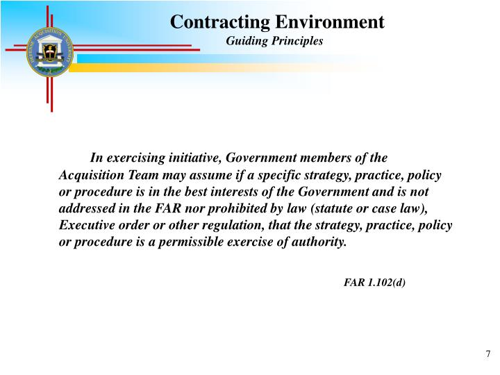 Contracting Environment
