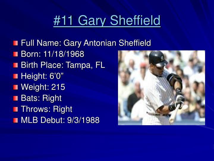 #11 Gary Sheffield