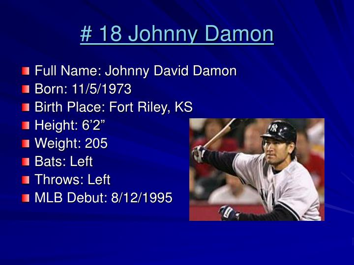 # 18 Johnny Damon