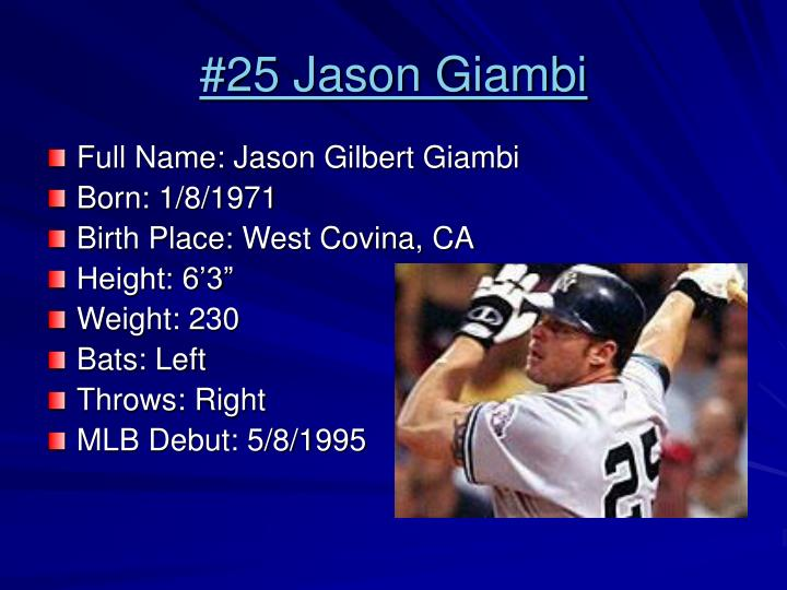 #25 Jason Giambi