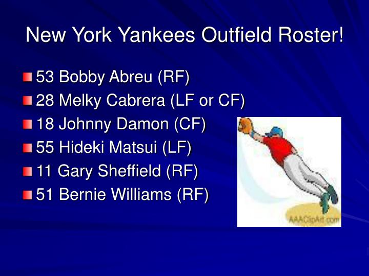 New York Yankees Outfield Roster!