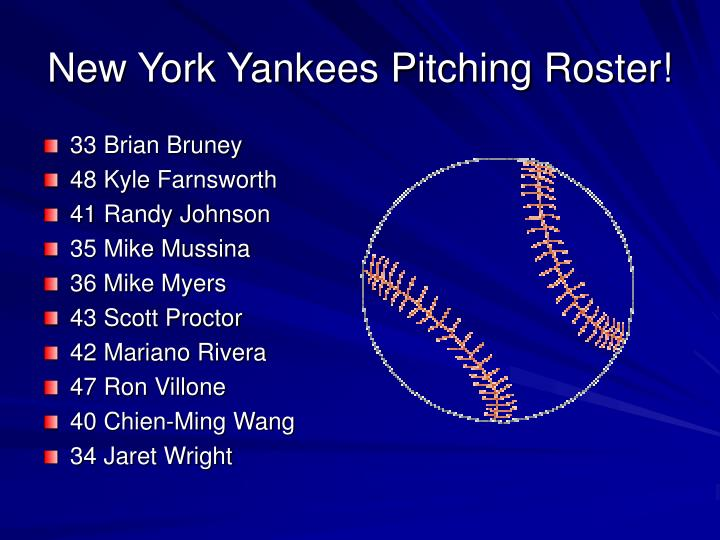 New york yankees pitching roster