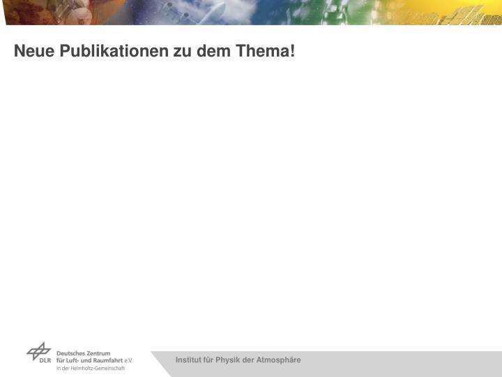 Neue Publikationen zu dem Thema!