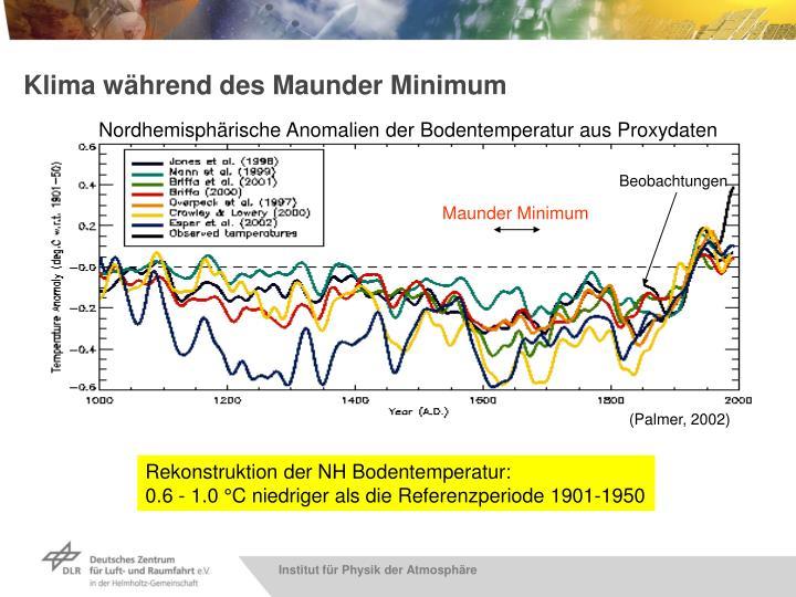 Klima während des Maunder Minimum
