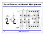 pass transistor based multiplexer