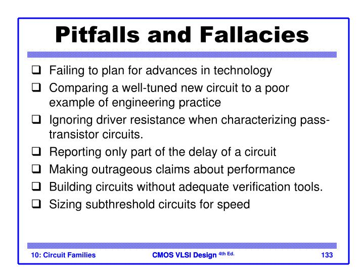 Pitfalls and Fallacies