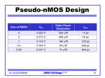 pseudo nmos design