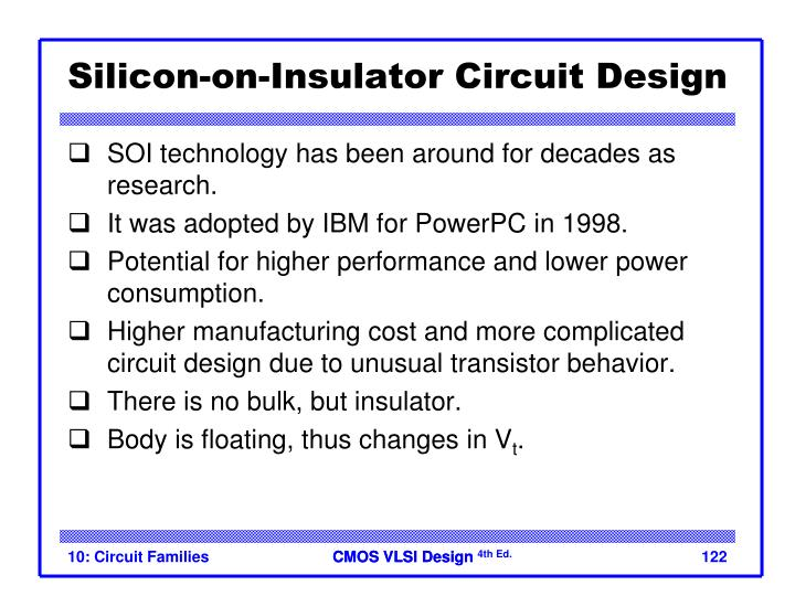 Silicon-on-Insulator Circuit Design