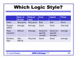 which logic style1