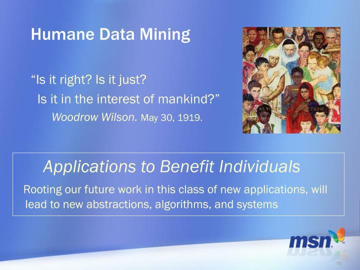 Humane Data Mining