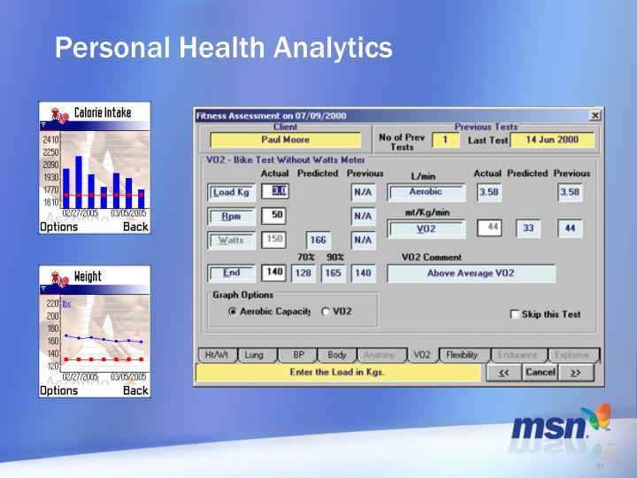 Personal Health Analytics