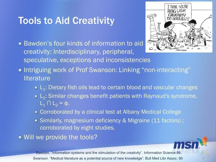 Tools to Aid Creativity