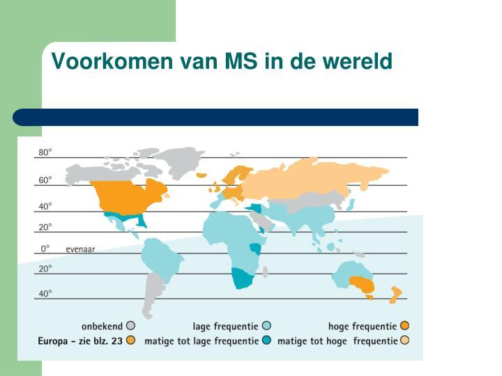 Voorkomen van MS in de wereld
