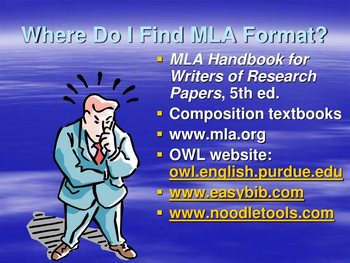 Where Do I Find MLA Format?