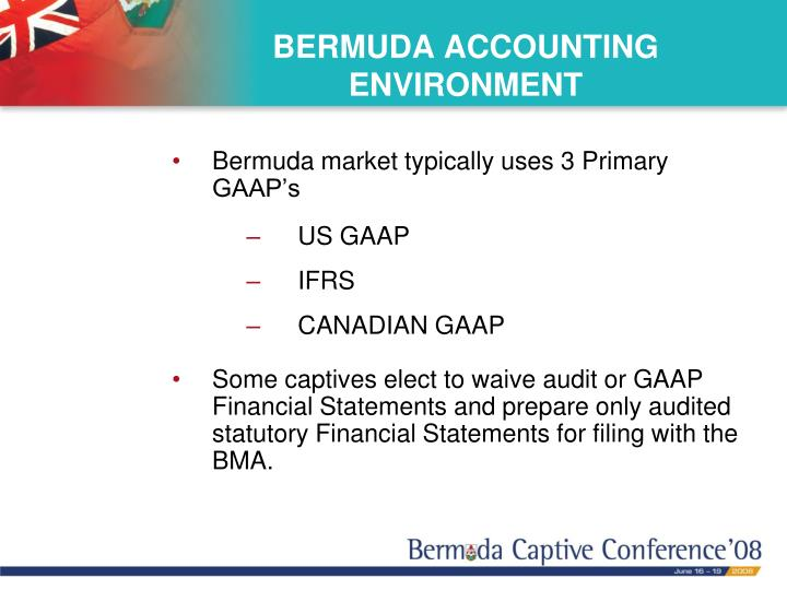 BERMUDA ACCOUNTING  ENVIRONMENT