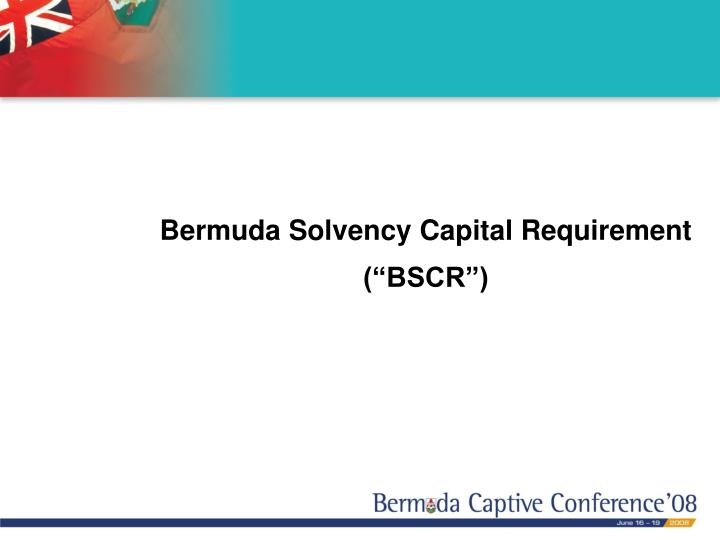 Bermuda Solvency Capital Requirement
