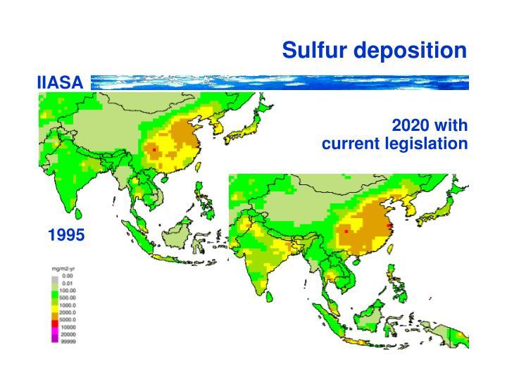 Sulfur deposition