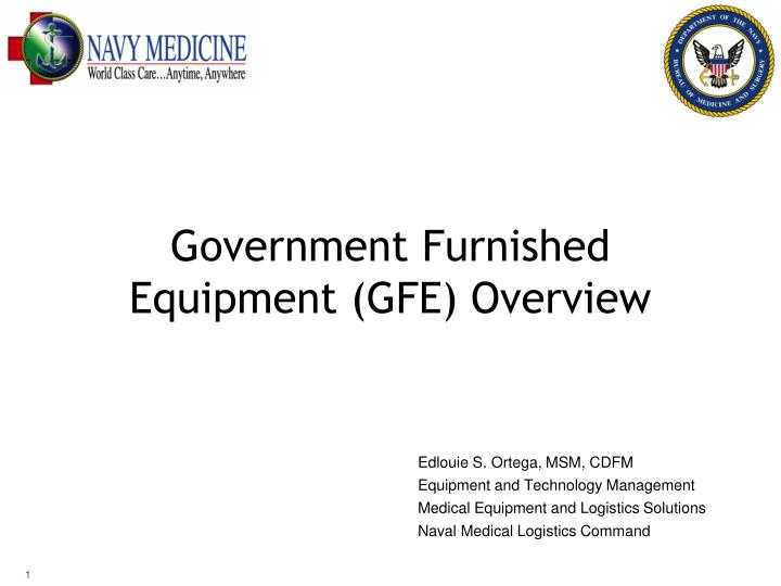 government furnished equipment gfe overview