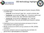 osd methodology highlights1