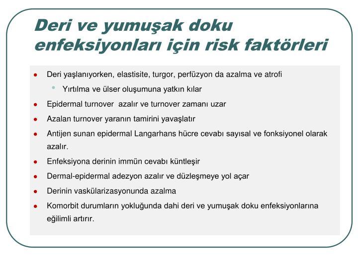 Deri ve yumuak doku enfeksiyonlar iin risk faktrleri