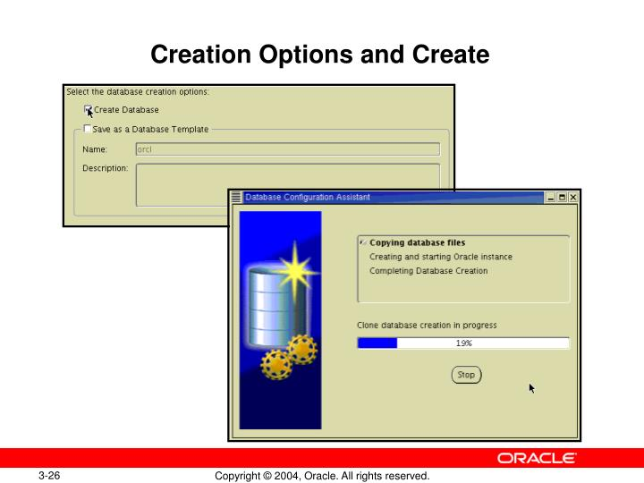 Creation Options and Create
